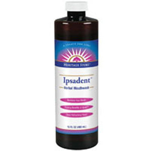 Ipsadent Herbal Mouthwash 16 Fl Oz by Heritage Products