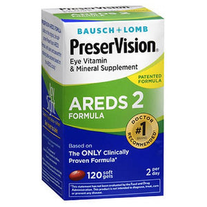 Bausch & Lomb PreserVision AREDS 2 Formula 120 Softgels by Bausch And Lomb (2590160191573)
