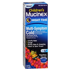 Mucinex Children's Night Time Multi-Symptom Cold Liquid 4 oz by Airborne (2588252635221)