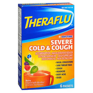 Theraflu Daytime Severe Cold & Cough Packets 6 Each by Novartis Consm Hlth Inc