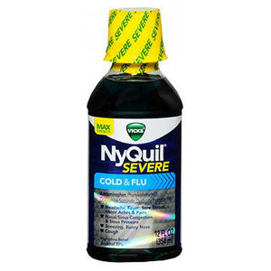 Vicks NyQuil Severe Cold & Flu Liquid 12 oz by Procter & Gamble (2590163042389)