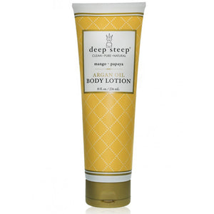 Argan Oil Body Lotion Mango Papaya 8 fl oz by Deep Steep (2588331212885)
