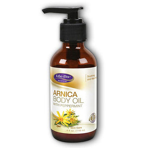 Arnica Body Oil Peppermint 4 fl oz by Life-Flo