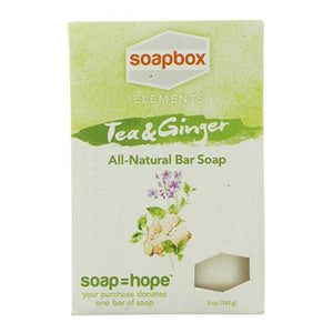 All Natural Bar Soap Tea & Ginger 5 oz by Soap Box Soaps (2588355657813)