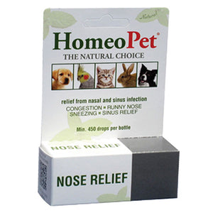 Nose Relief Drops 15 ml by HomeoPet Solutions (2588357656661)