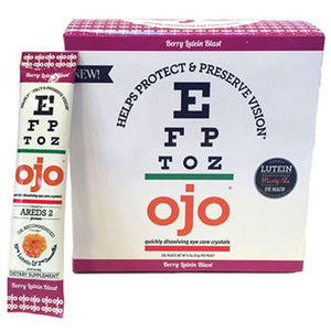 Eye Care Crystals Berry Lutein Blast 30 Packets by OJO Fortified Eye Care Nectar (2588399272021)