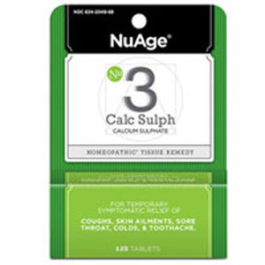 Nuage Tissue Salts Calcarea Sulphurica 125 tabs by NuAge Laboratories (2588807921749)