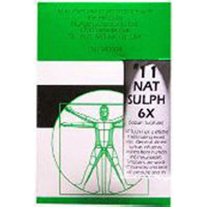 Nuage Tissue Salts Natrum Sulph 125 Tabs by NuAge Laboratories (2588808708181)