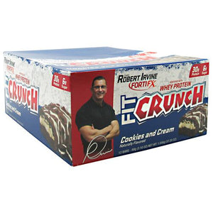 Fit Cruch Bar Cookies and Cream 12/1.62 oz by Chef Robert Irvine Fortifx (2590264229973)