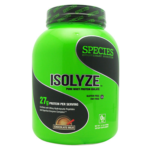 ISOLYZE Chocolate Milk 44 serving by Species Nutrition