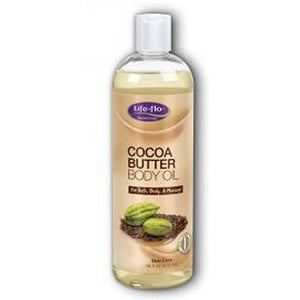 Cocoa Butter Body Oil 16 OZ by Life-Flo