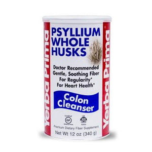 Organic Psyllium Whole Husks 12 OZ by Yerba Prima