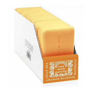 Bar Soap Dead Sea Orange 4OZ(case of 6) by One with Nature (2590271176789)