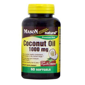 Coconut Oil 60 Softgels by Mason