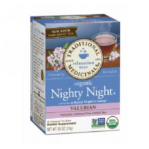 Organic Tea Nighty Night Valerian 16 Bags by Traditional Medicinals Teas (2587724775509)