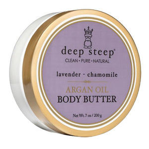 Argan Oil Body Butter Lavender-Chamomile 7 oz by Deep Steep (2587725234261)