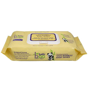 Baby Wipes 80 Count by Boo Bamboo