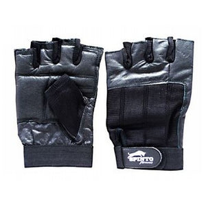 Men's Workout Gloves Black, Medium 1 Pair by Spinto USA LLC