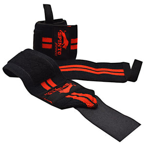 Elastic Wrist Wraps Red 1 Pair by Spinto USA LLC (2587735097429)