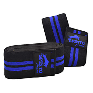 Elastic Knee Wraps Blue 1 Pair by Spinto USA LLC (2590280712277)