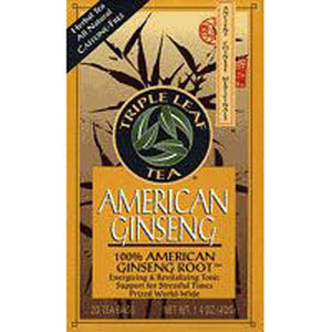 American Ginseng Root 6 X 20 Bags by Triple Leaf Tea