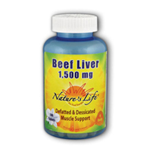 Beef Liver 100 tabs by Nature's Life