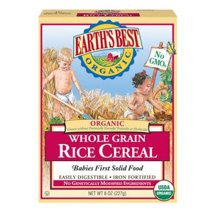 CEREAL BABY-RICE(OM) 8 OZ by Earth's Best  (2587385069653)