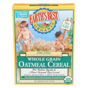 Organic Whole Grain Oatmeal Cereal 8 OZ by Earth's Best  (2587385167957)
