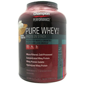 Pure Whey Plus Protein Powder Banana Cream Pie 4.8 lbs by Champion Nutrition (2588256305237)