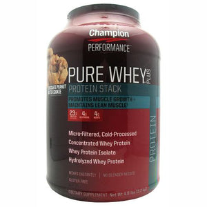 Pure Whey Plus Protein Powder Chocolate Peanut Butter Cup 4.8 lbs by Champion Nutrition (2588256600149)