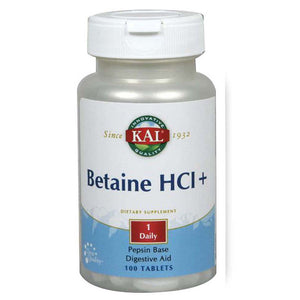 Betaine HCl+ 250 Tabs by Kal