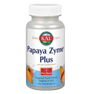 Papaya-Zyme Plus Papaya 100 Chews by Kal
