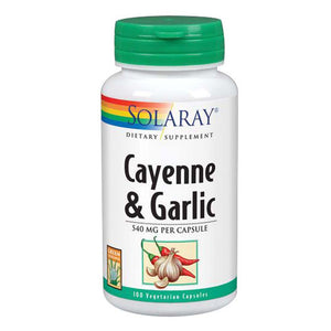 Cayenne Garlic 100 Caps by Solaray (2590203773013)