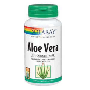 Aloe Vera Gel Concentrate 100 Caps by Solaray (2590204264533)