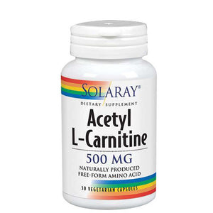 Acetyl L-Carnitine 30 Caps by Solaray (2590205575253)