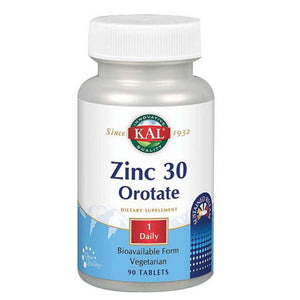 Zinc 30 Orotate 90 Tabs by Kal (2588368601173)