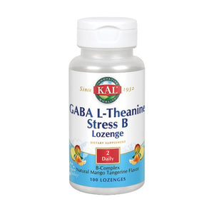 GABA L-Theanine Stress B 100 Lozenges by Kal