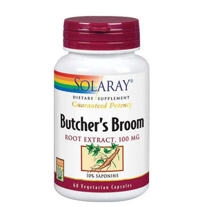 Butcher's Broom Root Extract 60 Caps by Solaray (2590209704021)