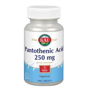 Pantothenic Acid 100 Tabs by Kal