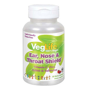 Ear, Nose & Throat Shield 50 Lozenges by VegLife