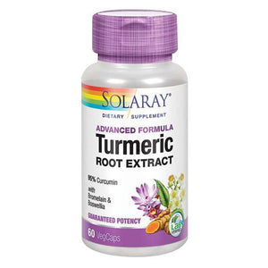 Turmeric Root Extract 60 Caps by Solaray (2590213046357)