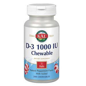 D-3 Chewable 100 Chews by Kal (2590213111893)