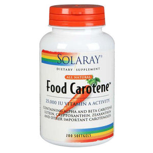 Food Carotene 200 Softgels by Solaray (2590213963861)