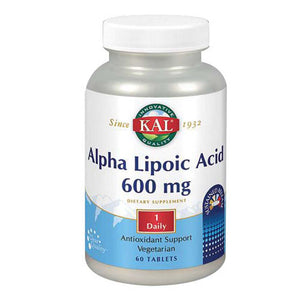 Alpha Lipoic Acid Sustained Release 60 Tabs by Kal (2590214094933)