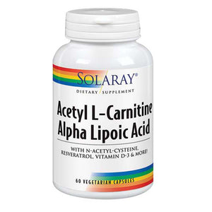Acetyl L-Carnitine Alpha Lipoic Acid 60 Caps by Solaray (2590214914133)