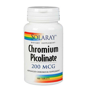 Chromium Picolinate 200 Tabs by Solaray (2590217175125)