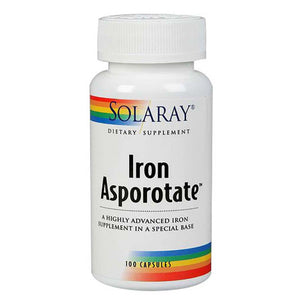 Iron Asporotate 100 Caps by Solaray (2590217338965)