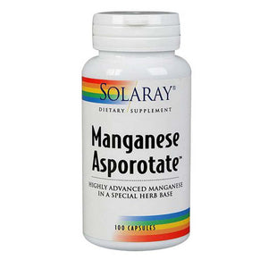 Manganese Asporotate 100 Caps by Solaray (2590217535573)
