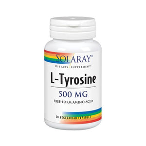 L-Tyrosine 50 Caps by Solaray (2590218813525)
