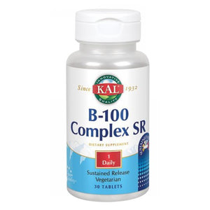 B-100 Complex Sustained Release 30 Tabs by Kal (2590218846293)